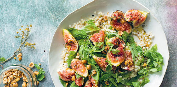 Fig and herb salad