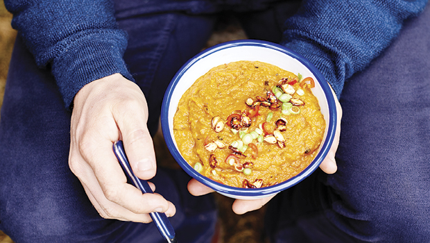 Curried roast vegie soup