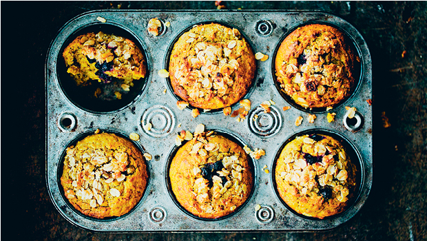 Turmeric and blueberry muffins