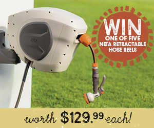 Win one of five Neta retractable hose reels!