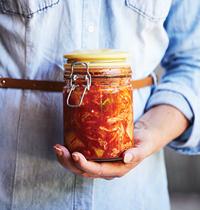 Bottle of kimchi