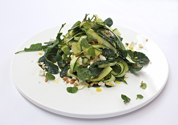 zucchini, kale and feta salad