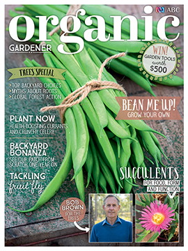the september issue of organic gardener magazine is treeriffic