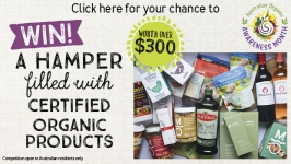 Win! A hamper filled with certified organic products!