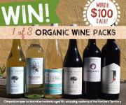 Win 1 of 3 organic wine packs!