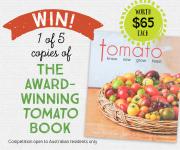 Win 1 of 5 tomato books!