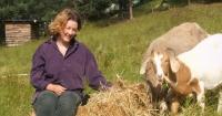 Linda Cockburn and goats