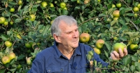 Peter Cundall and fruit trees