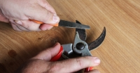 Sharpening secateurs