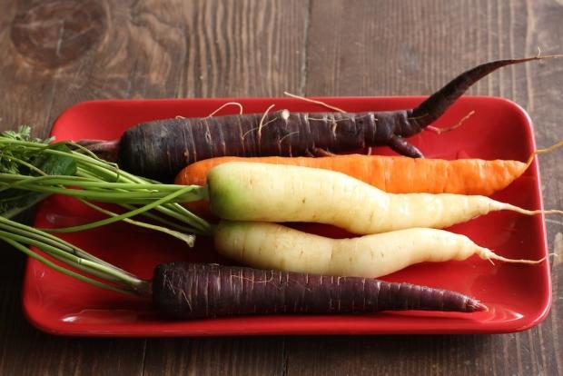 Coloured carrots.