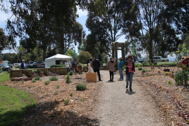 Festival day at Jindivik community garden in Victoria