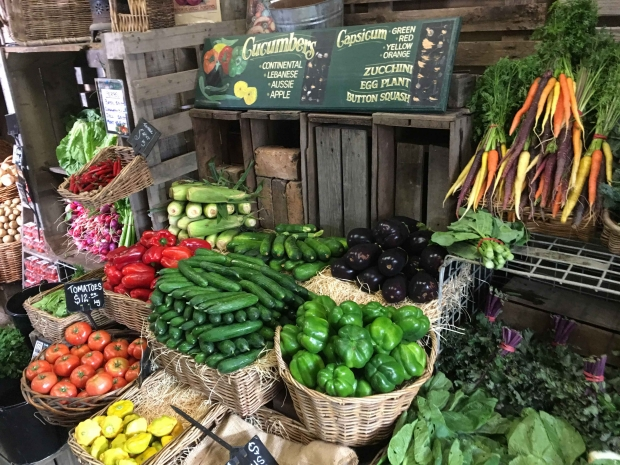 There's a great range of organic produce available at Peninsula Fresh's farmgate in Victoria's Mornington Peninsula.