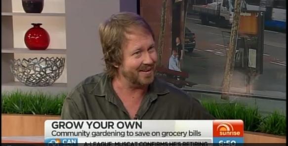 Organic Gardener writer Phil Dudman on Sunrise