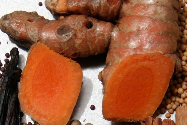 Bright orange turmeric