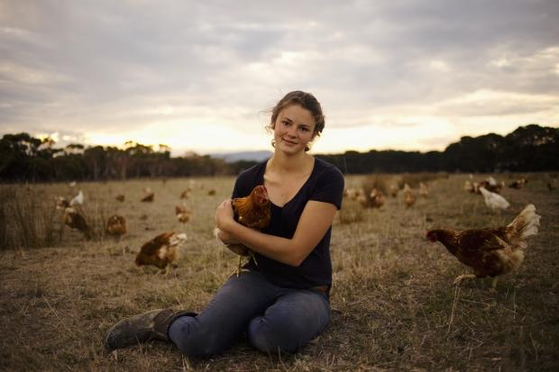 Madelaine Scott triple j 25 under 25 winner organic egg farmer