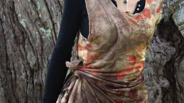 One of India Flint's natural dye dresses.