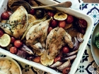 Roasted garlic and lemon chicken