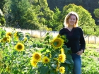 Linda and sunflowers