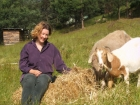 Linda Cockburn and goats
