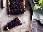 Onion, beetroot and lamb tart
