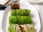 Chilli pork and cabbage rolls