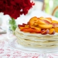 Peach meringue stack