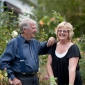 Peter and Tina Cundall in their ornamental garden